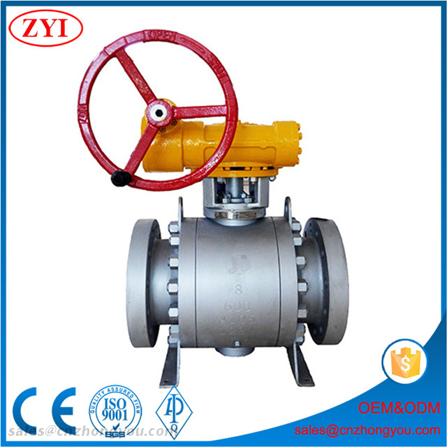 High Quality 3 Pieces Forged Steel ASTM A105 Trunnion Mounted Ball Valve