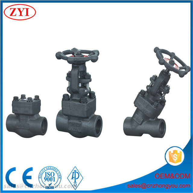 Low Price Small Size Class 800LB Bolted Bonnet Socket Weld Forged Steel Gate Globe Check Valve