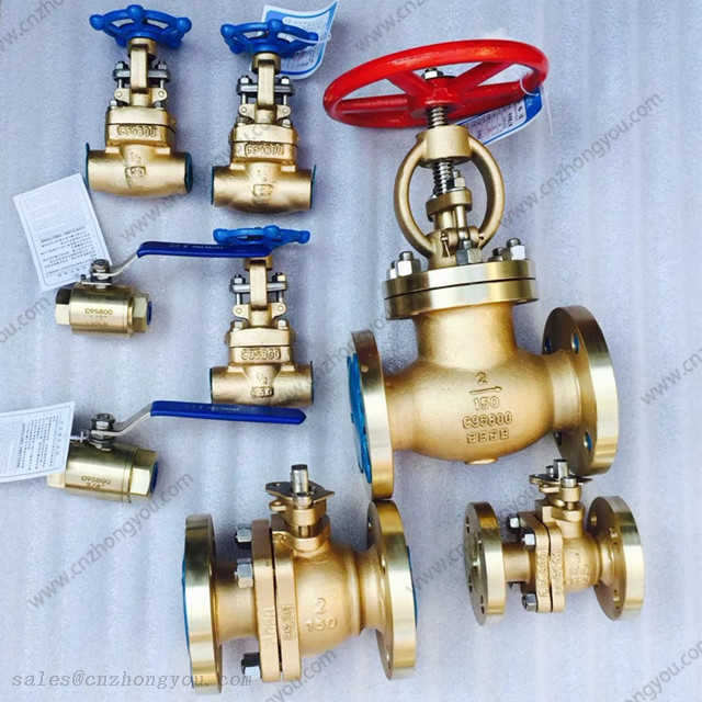 Aluminum Bronze ASTM B148 C95800 GATE GLOBE CHECK BALL VALVES