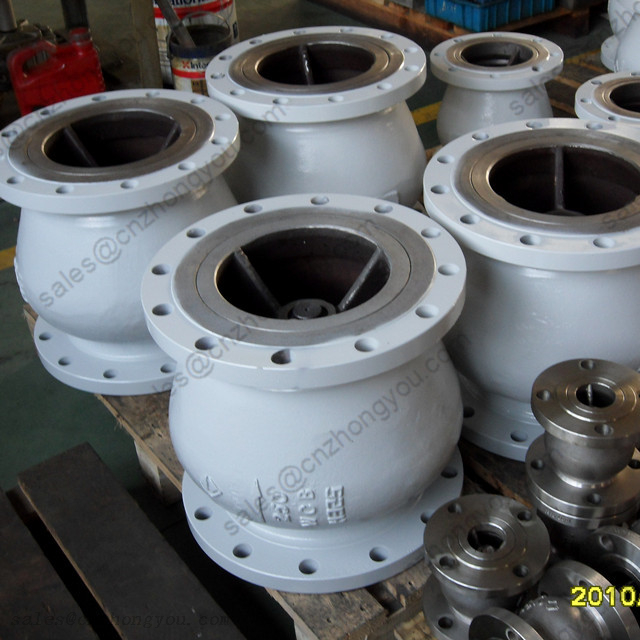 Axial Flow Check Valve DN250 PN16, A216 WCB Body, SS321 Trim, RF Flanged Ends