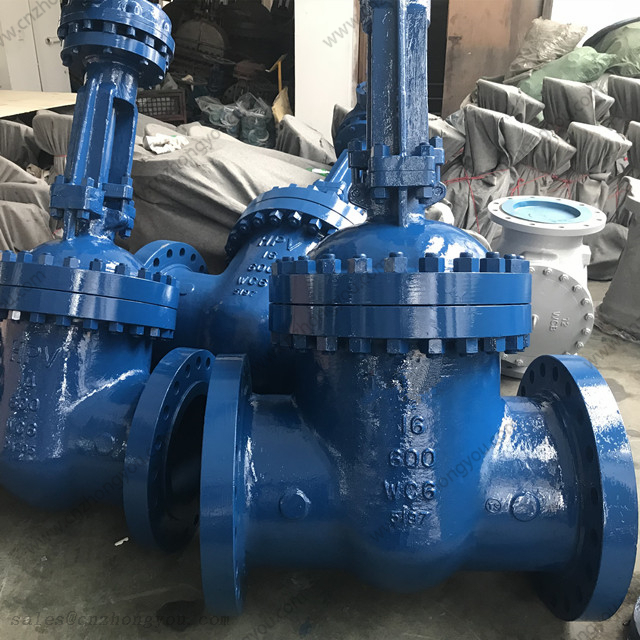 API 600 Gate Valve, 16'' 600LB, ASTM A217 WC6 Body, STL6+STL12 Trim, RF