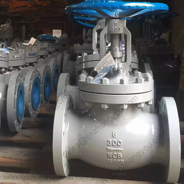 API 6D Globe Valve, 6'' 300LB, ASTM A216 WCB Body, SS316 Trim, RF, Manual