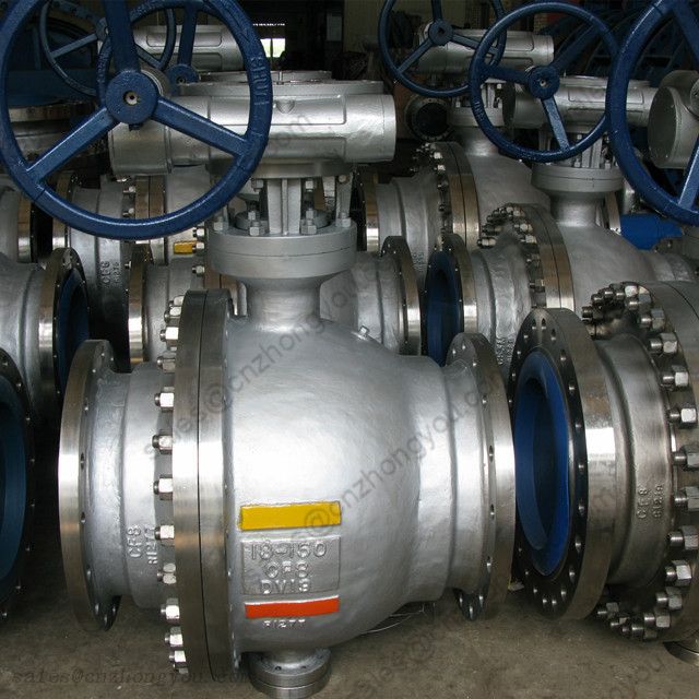 BALL VALVE 18'' 150LB, A351 CF8 Body, A182 F304 Ball, RF, Wormgear Operated