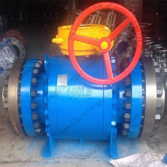 BALL VALVE(Trunnion Mounted) 12'' 600LB, A350 LF2 Body, LF2+ENP Ball, RTJ