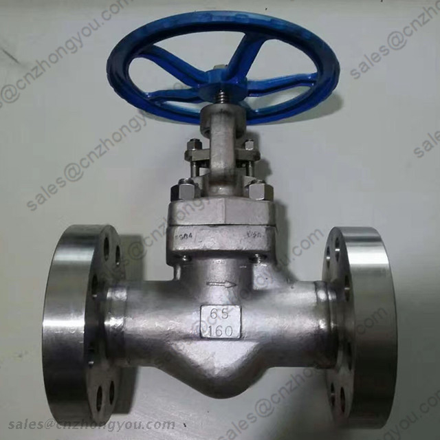 Bolted Bonnet Forged Globe Valve, DN65 PN160, ASTM A182 F304 Body, ASTM A182 F316 Trim, RTJ