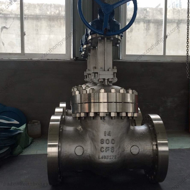 Bolted Bonnet Gate Valve, 14'' 900LB, ASTM A351 CF8 Body, ASTM A351 CF8 Trim, RTJ