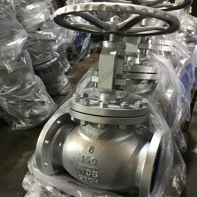Cast Steel Globe Valve, 6'' 150LB, ASTM A216 WCB Body, 13Cr+STL Trim, RF