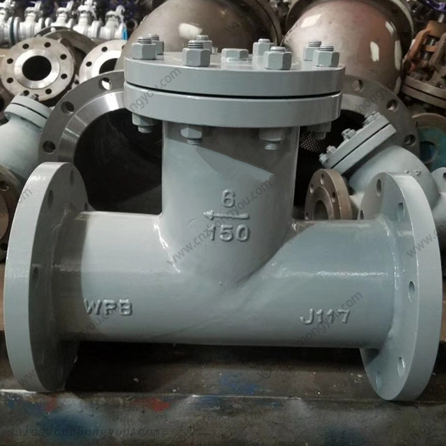 Cast Steel T Strainer, 6'' 150LB, WPB Body, SS304 Screen, RF