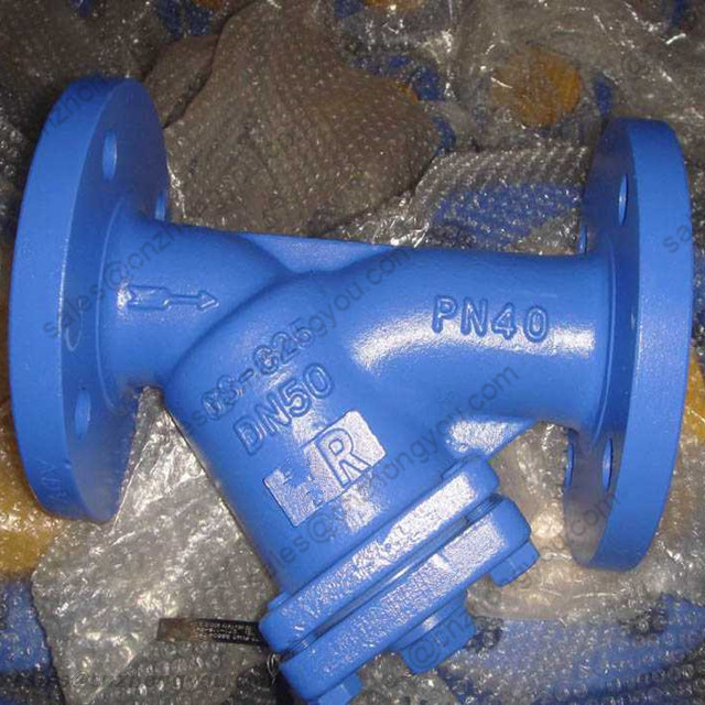DIN Y Type Strainer, DN50 PN40, GS-C25 Body, SS304 Trim, Flanged Ends RF