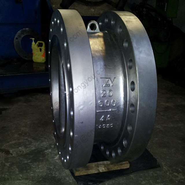 Double Flange Dual Plate Wafer Check Valve 20'' 600LB, A890 4A Body, RF Ends