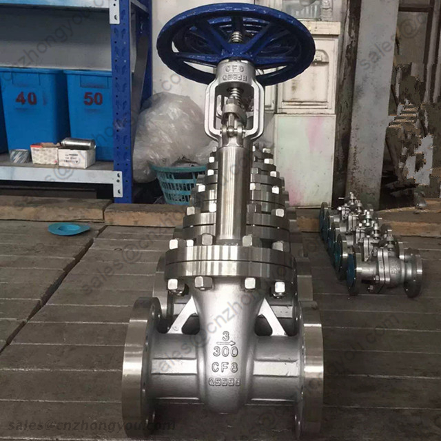 Extension Bonnet Cryogenic Globe Valve, 3'' 300LB, ASTM A351 CF8 Body, SS304 Trim, RF, Handwheel