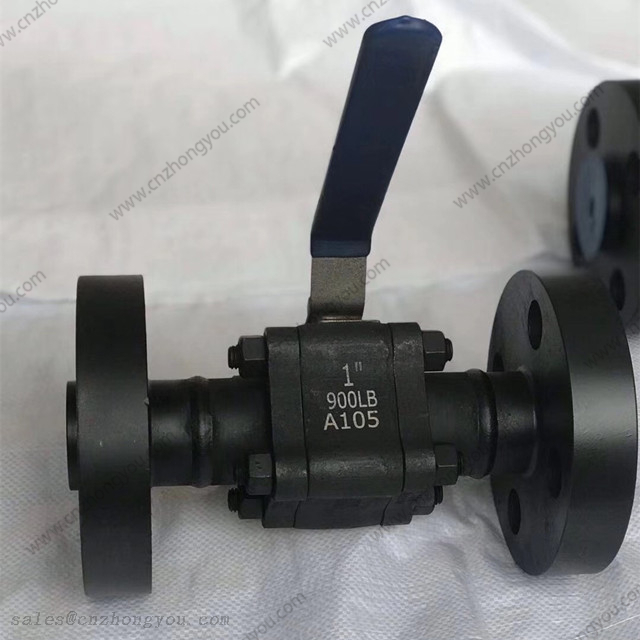 1'' 900LB A105 Body F304 Ball Forged Steel 3PCS Ball Valve
