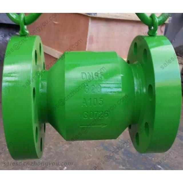 Forged Steel Axial Flow Check Valve, DN65 PN320, ASTM A105 Body, ASTM F304 Trim, RTJ