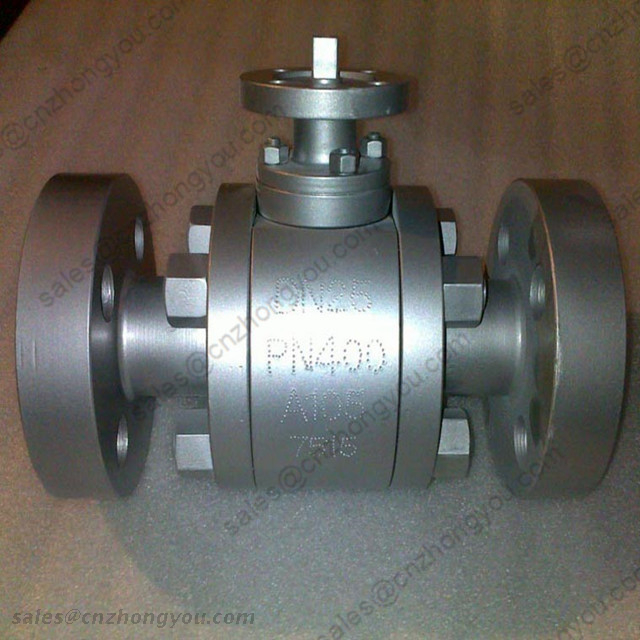Forged Steel Ball Valve, DN25 PN400, ASTM A105 Body, ASTM A182 F304 Ball, RTJ Ends, Bare Stem