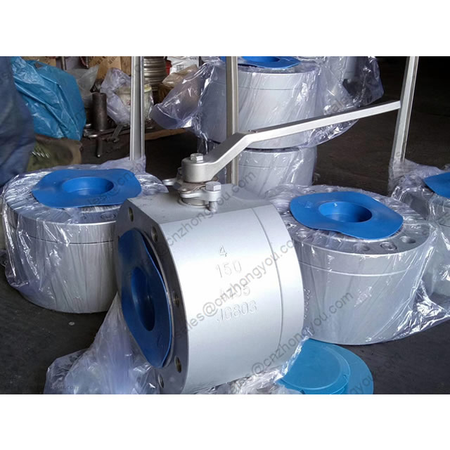 Forged Steel Short Pattern Wafer Ball Valve, 4'' 150LB, ASTM A105, ASTM A105 Ball, RF