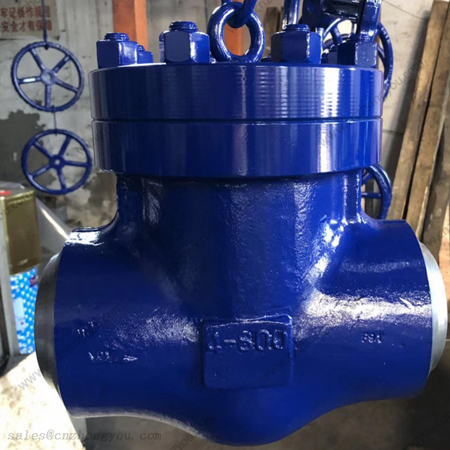 Forged Swing Check Valve, 4'' 800LB, ASTM A182 F91 Body, ASTM A182 F91 Trim, Butt Weld