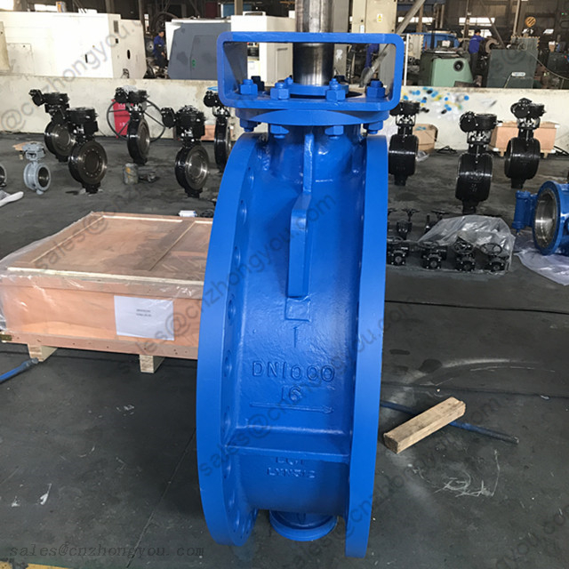 High Performance Butterfly Valve DN1000 PN16, ASTM A352 LC1 Body, SS304 Trim, RF