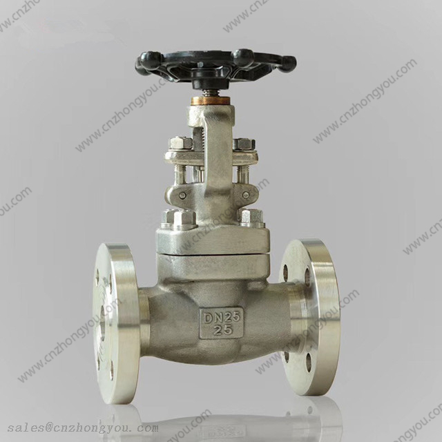 Integral Flange Gate Valve, DN25 PN25, ASTM A182 F316 Body, ASTM A182 F316 Trim, Flanged Ends