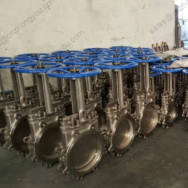 Lug Type Knife Gate Valve DN200 PN16, ASTM A351 CF8M Body