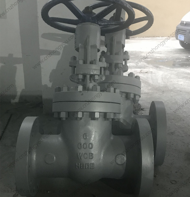 Manual Gate Valve, 6'' 600LB, ASTM A216 WCB Body, 13Cr Trim, RF