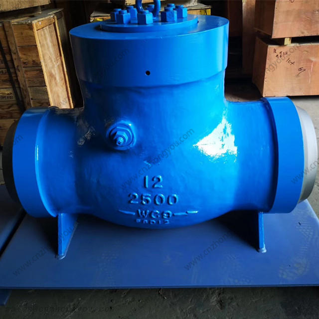 Pressure Seal Cover Swing Check Valve, 12'' 2500LB, ASTM A217 WC9 Body, Trim No.#5, BW Ends
