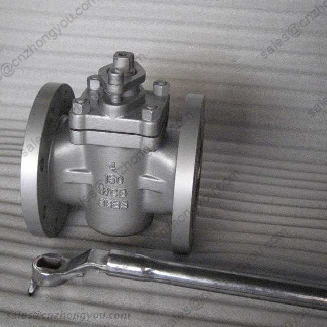 Sleeve type Soft Seal Plug Valve, 4'' 150LB, ASTM A216 WCB Body, RF