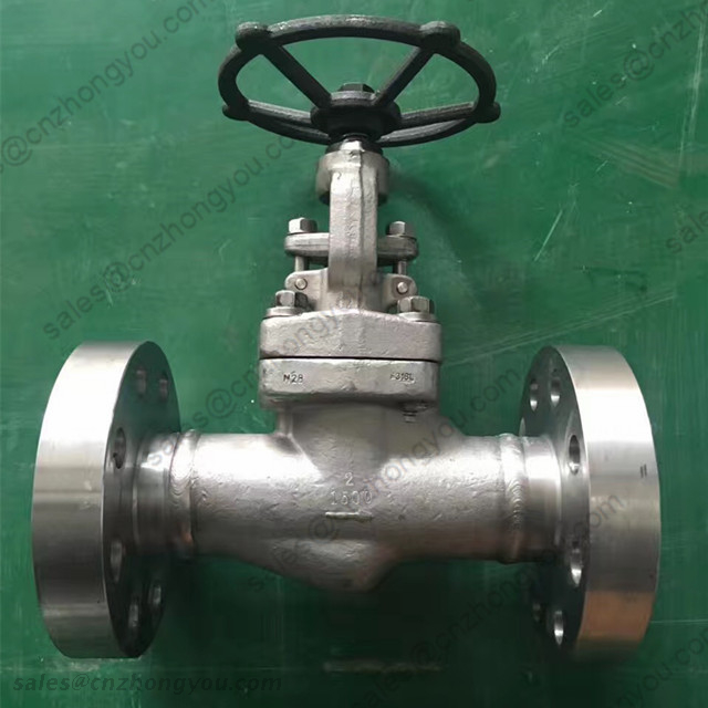 Stainless Steel Forged Globe Valve, 2'' 1500LB, ASTM A182 F316L Body, ASTM A182 F316L+STL Trim, RTJ