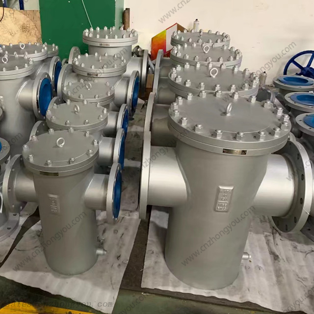 Welded Single Basket Strainer, DN300 PN16, A106-B Body, SS316 Screen, RF