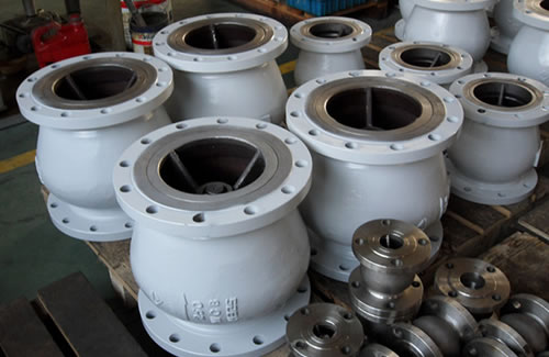 Axial flow check valves are ready for shipment