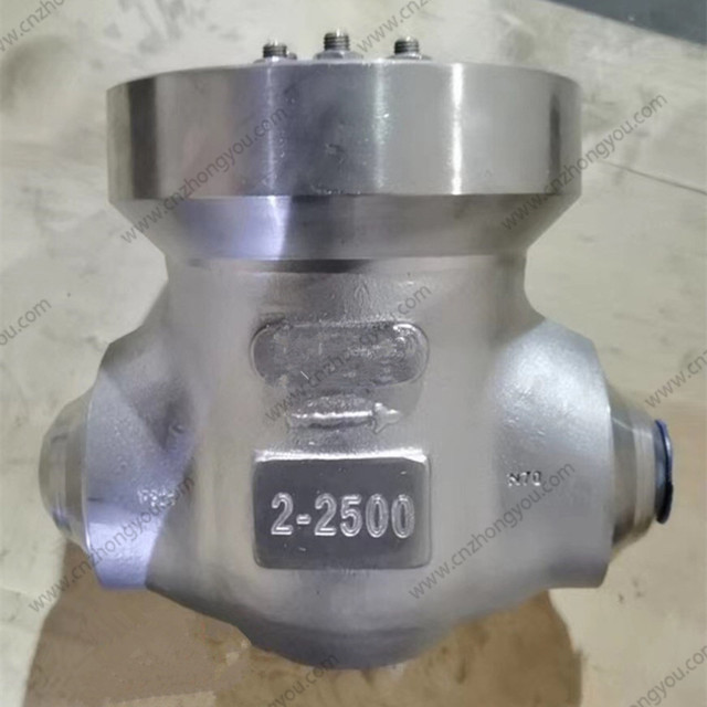 Forged Check Valve, 2'' 2500LB, ASTM A182 F321 Body, ASTM A182 F321 Trim, BW