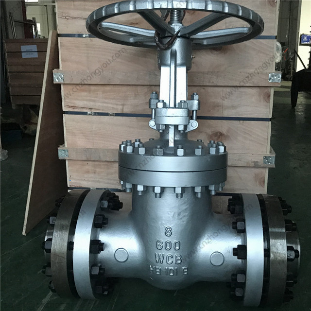 Gate Valve with counter flange, gaskets fasteners, 8'' 600LB, ASTM A216 WCB Body, ASTM A216 WCB Trim, RF