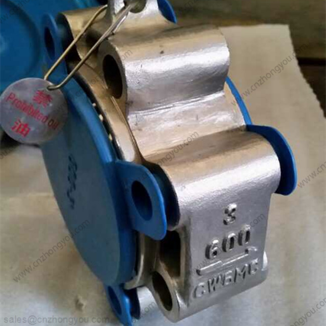 Dual Plate Wafer Lug Check Valve, 3'' 600LB, ASTM A494 CW6MC Body, Inconel 625 Trim, RTJ